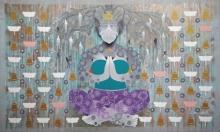 contemporary Acrylic Art Painting title Creation 45 by artist Ranjit Singh Kurmi