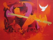 Joy Of Music - 14 | Painting by artist Ranjit Singh | acrylic | Canvas