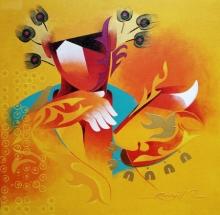 contemporary Acrylic Art Painting title Towards Happiness 3 by artist Ranjit Singh Kurmi