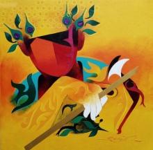 contemporary Acrylic Art Painting title Towards Happiness 4 by artist Ranjit Singh Kurmi