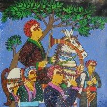 Someshwar | Acrylic Painting title Festive on Canvas | Artist Someshwar Gallery | ArtZolo.com
