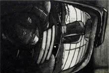 Other Etching Art Drawing title Window by artist Kinnari Tondalekar