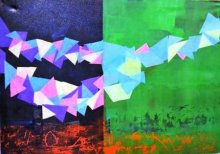 Shivani Garg Paintings | Mixed-media Painting - Rhythm Of Life 5 by artist Shivani Garg | ArtZolo.com