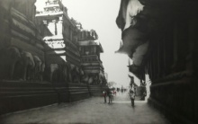 Cityscape Charcoal Art Drawing title 'Ajanta Ellora' by artist Yuvraj Patil