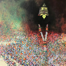 Religious Acrylic Art Painting title Mauli by artist Amol Satre