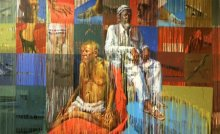 Figurative Acrylic Art Painting title Transformation by artist Amol Satre
