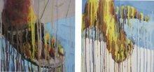 Figurative Acrylic Art Painting title Struggle by artist Amol Satre