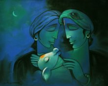 Navnath Chobhe | Acrylic Painting title Dream on Canvas | Artist Navnath Chobhe Gallery | ArtZolo.com