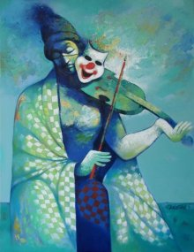 Figurative Acrylic Art Painting title Life 2 by artist Navnath Chobhe