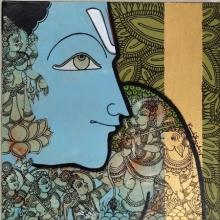 Ramesh Gorjala | Acrylic Painting title Gopashtami on Canvas | Artist Ramesh Gorjala Gallery | ArtZolo.com