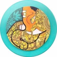 Ramesh Gorjala | Acrylic Painting title Ganesha 3 on Canvas