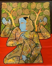 Ramesh Gorjala | Acrylic Painting title Lord Vishnu 1 on Canvas