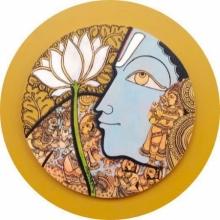 Ramesh Gorjala | Acrylic Painting title Vishnu 2 on Canvas
