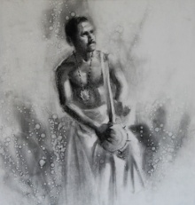 Charcoal Paintings | Drawing title Timila 2 on Paper | Artist Pankaj Bawdekar