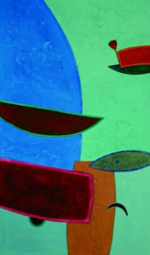 Untitled 5 | Painting by artist Bhushan Vaidhya | acrylic | Canvas