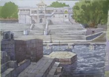 Landscape 3 | Painting by artist Surendra Jagtap | watercolor | Paper