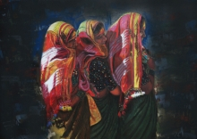 Pencil Paintings | Drawing title Three Womens on Paper | Artist Parshuram Patil