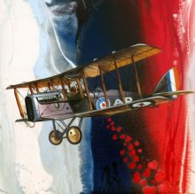 Aviation Oil Art Painting title 'Chariots Of Love 1' by artist Ankur Rana