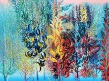 Nature Acrylic Art Painting title Exuberance XVII by artist Kishore Kumar Sahu