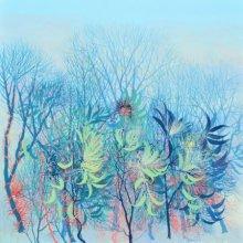Nature Acrylic Art Painting title 'Exuberance VI' by artist Kishore Kumar Sahu