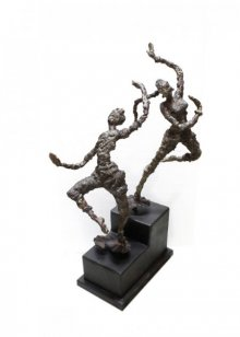 Rohan Pawar | Celebration Sculpture by artist Rohan Pawar on Brass | ArtZolo.com