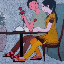 Date | Painting by artist Rahul Mhetre | acrylic | Canvas