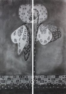 Charcoal Paintings | Drawing title Butterfly 1 on Paper | Artist Prathamesh Khandvilkar
