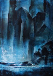 NIkHIl Patil Paintings | Acrylic Painting - Landscape by artist NIkHIl Patil | ArtZolo.com