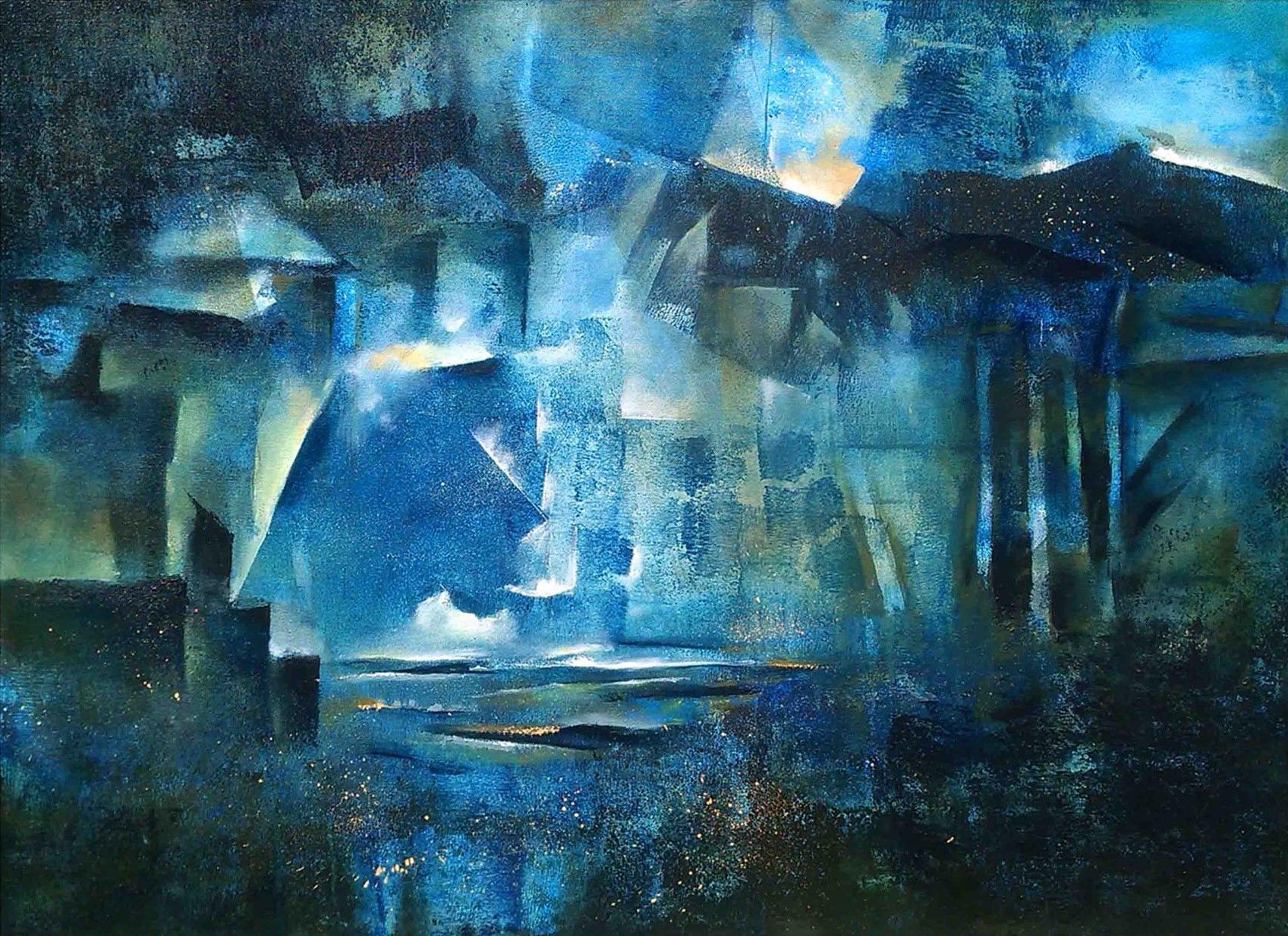 Abstract Acrylic Art Painting title 'Landscape' by artist NIkHIl Patil
