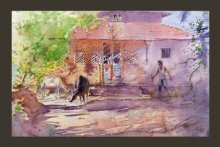 Swapnil Mhapankar Paintings | Watercolor Painting - Vengurla by artist Swapnil Mhapankar | ArtZolo.com