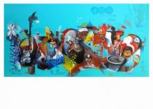 Mahesh Pal Gobra | Acrylic Painting title Rahagiri Day on canvas | Artist Mahesh Pal Gobra Gallery | ArtZolo.com