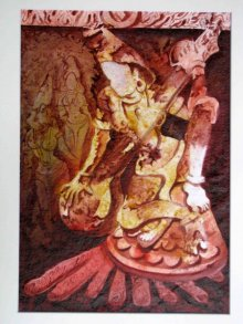 Mahesh Pal Gobra | Acrylic Painting title The Form of Sculpture VIII on paper | Artist Mahesh Pal Gobra Gallery | ArtZolo.com
