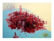 Bhopal City | Painting by artist Mahesh  Gobra | acrylic | Acrylic on Canvas