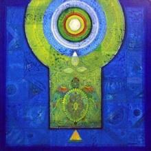Abstract Acrylic Art Painting title 'Meditation 15' by artist Nilesh Nikam