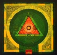 Abstract Acrylic Art Painting title 'Meditation 61' by artist Nilesh Nikam