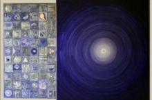 Abstract Acrylic Art Painting title 'Meditation 50' by artist Nilesh Nikam