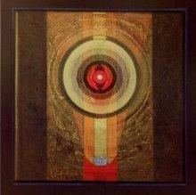 Abstract Acrylic Art Painting title 'Meditation 5' by artist Nilesh Nikam