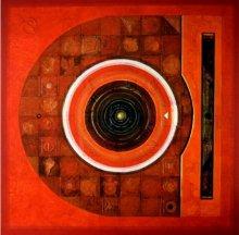 Abstract Acrylic Art Painting title 'Meditation 2' by artist Nilesh Nikam