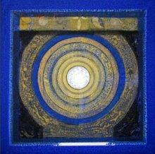 Abstract Acrylic Art Painting title 'Meditation 1' by artist Nilesh Nikam