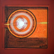 Abstract Acrylic Art Painting title 'Meditation 57' by artist Nilesh Nikam