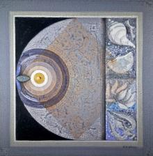 Nilesh Nikam | Acrylic Painting title Meditation 89 on Canvas