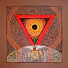 Nilesh Nikam | Acrylic Painting title Meditation 90 on Canvas