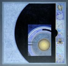 Abstract Acrylic Art Painting title 'Meditation 91' by artist Nilesh Nikam