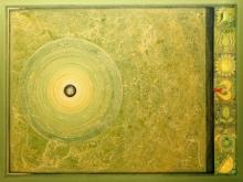 Abstract Acrylic Art Painting title 'Meditation 92' by artist Nilesh Nikam