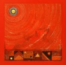 Abstract Acrylic Art Painting title 'Meditation 94' by artist Nilesh Nikam