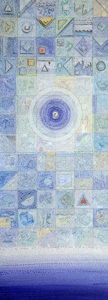 Abstract Acrylic Art Painting title 'Meditation 95' by artist Nilesh Nikam