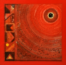 Abstract Acrylic Art Painting title 'Meditation 97' by artist Nilesh Nikam
