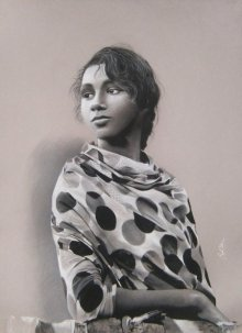 Rachna | Drawing by artist Sujith Puthran |  | charcoal | Paper