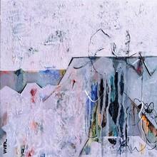 Abstract Acrylic Art Painting title Untitled 15 by artist Vivek Nimbolkar