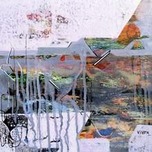 Abstract Acrylic Art Painting title Untitled 16 by artist Vivek Nimbolkar